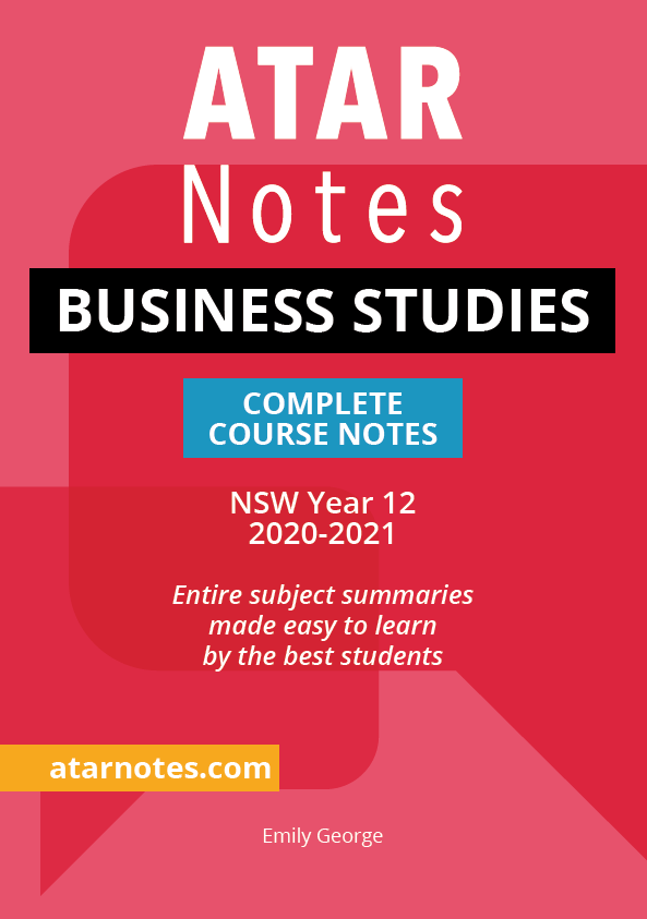 Year 12 Business Studies Notes